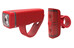 Knog POP Duo - Set luces a pilas - Twinpack rojo